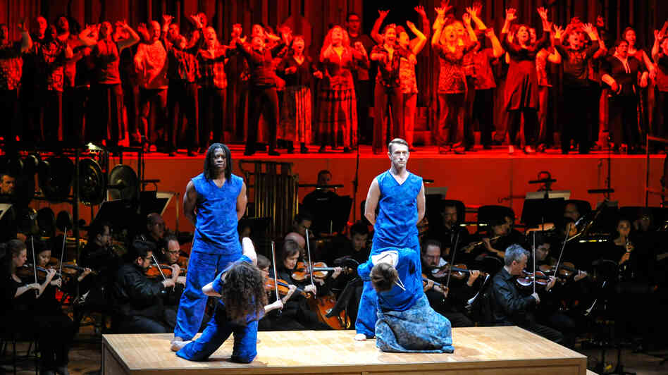 A moment from The Gospel According to the Other Mary, as performed by the Los Angeles Philharmonic in 2013 at London's Barbican Centre.