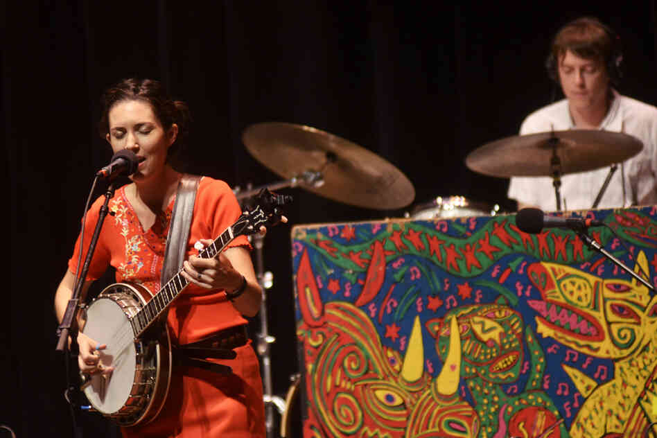 Singer and banjo player Shannon Carey comes from a musical family; her brother Sean is the drummer for Bon Iver.