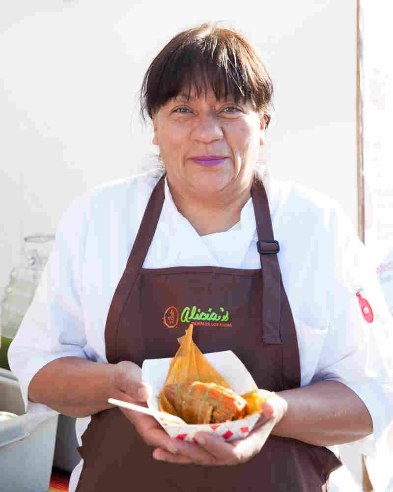 Alicia Villanueva used funds from lending circles to help grow her business, Alicia's Tamales Los Mayas.