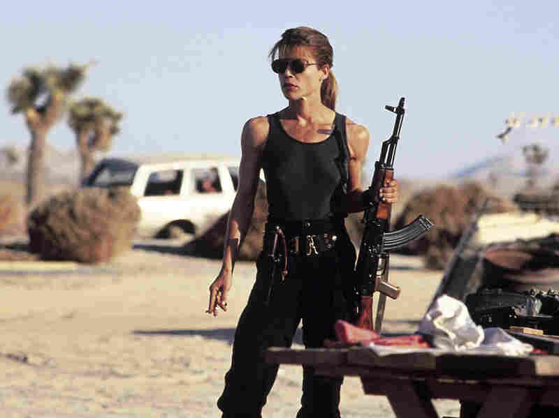 TERMINATOR 2: JUDGMENT DAY, Linda Hamilton, 1991. TriStar Pictures/ Courtesy: Everett Collection