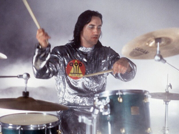 Smashing Pumpkins drummer Jimmy Chamberlin in a 1994 performance.