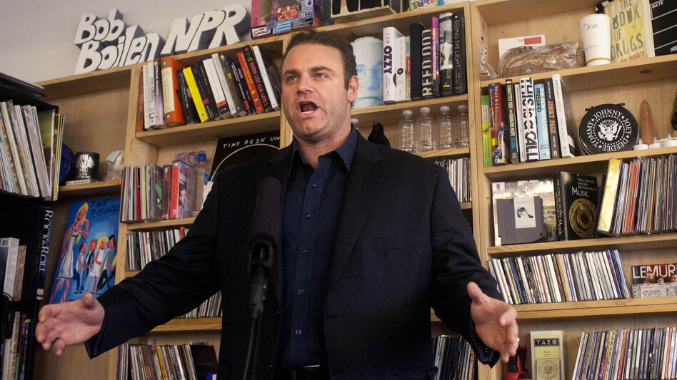Joseph Calleja performed a Tiny Desk Concert November 26. (Abbey Oldham/NPR)