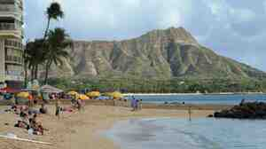 Waikiki Beach in Honolulu, with Diamond Head in the background. State lawmakers are vowing to get rid of a provision in Hawaiian law that allows law enforcement officers to have sex with prostitutes if doing so is within the scope of their duties.