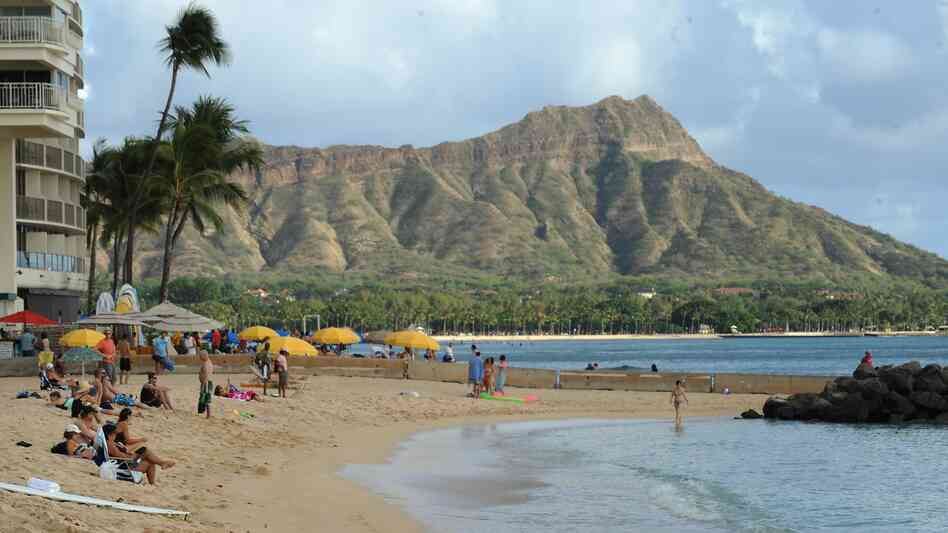 Waikiki Beach in Honolulu, with Diamond Head in the background. State lawmakers are