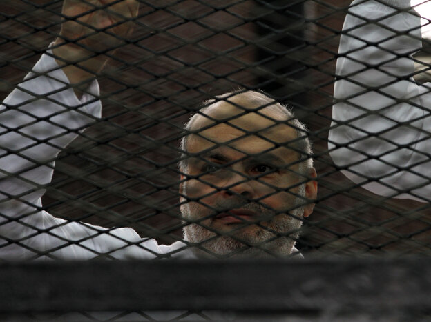 Egyptian supporters of the Muslim Brotherhood are se