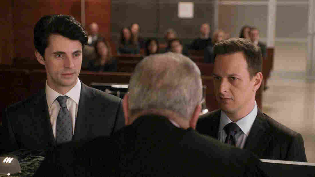 Matthew Goode (left) as Finn Polmar and Josh Charles (right) as Will Gardner in Sunday night's episode of CBS's The Good Wife.