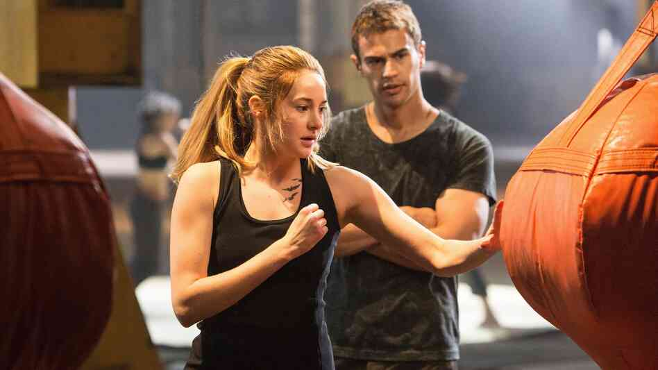 Shailene Woodley and Theo James in Divergent. Can you see the rebellion?