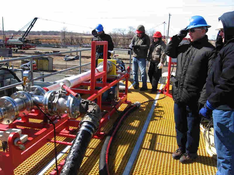 Crews at the National Oil Spill Response Research facility. The facility runs different spill scenario tests almost weekly.