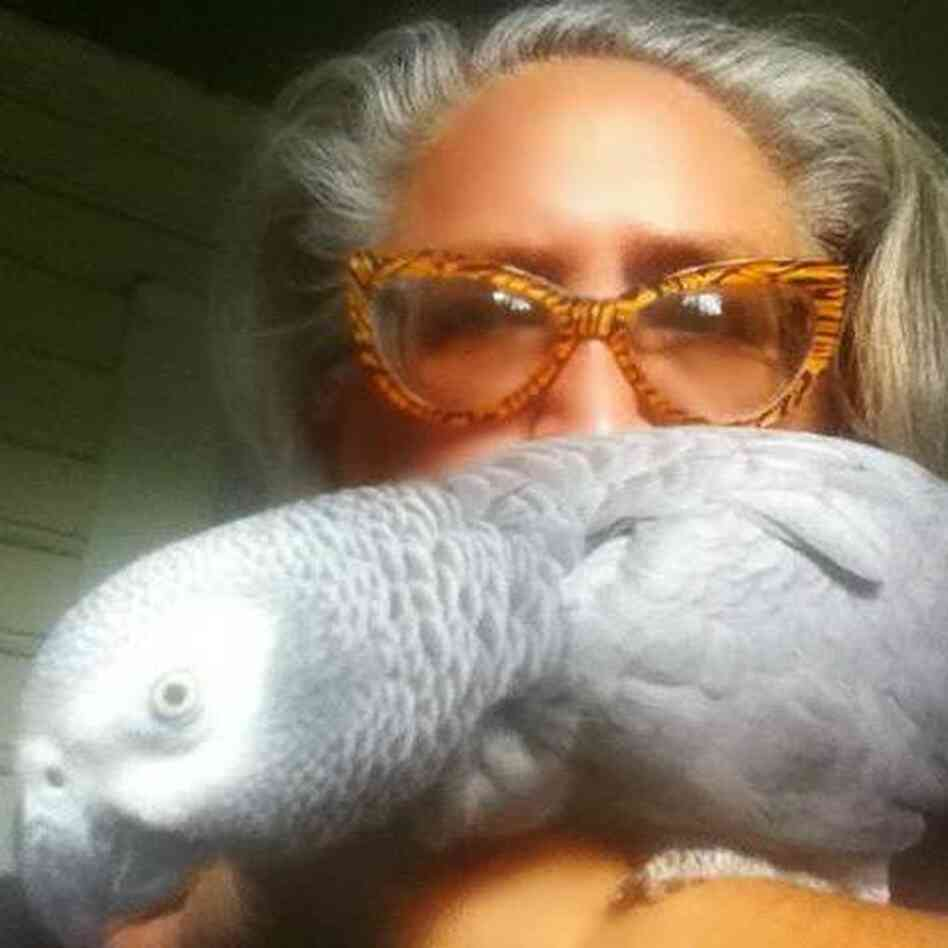 Erica Werner and Perry, the parrot