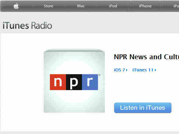 NPR on iTunes Radio