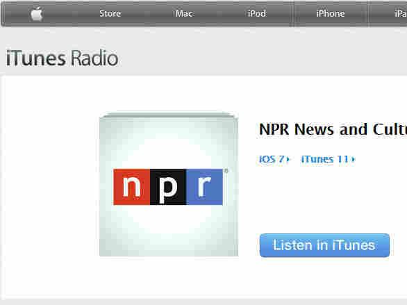 NPR on iTunes Radio