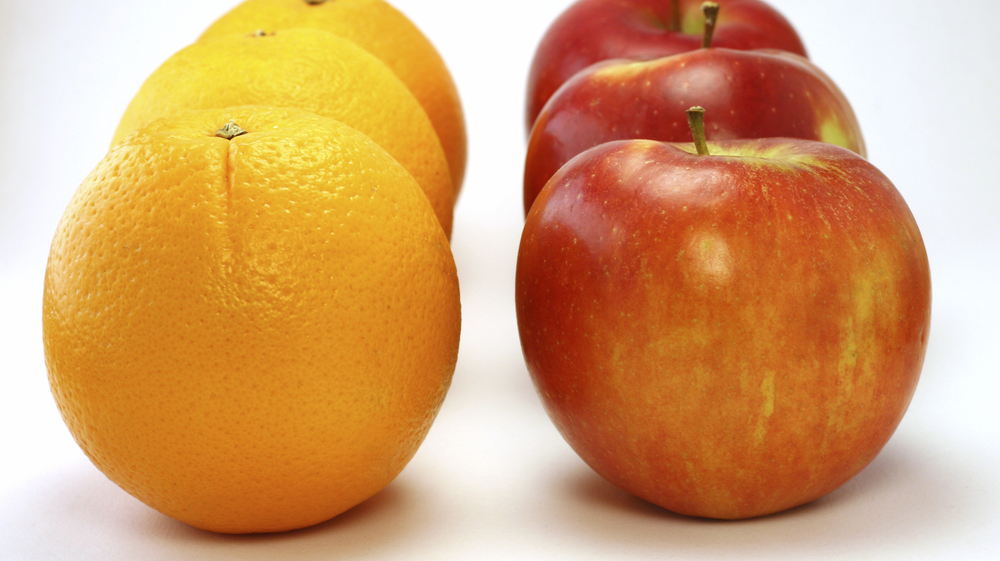 "apples and oranges compare and contrast Apples and oranges ""comparing apples and oranges"" ranks with make a fanciful comparison between apples and oranges founder of the brainzooming group."