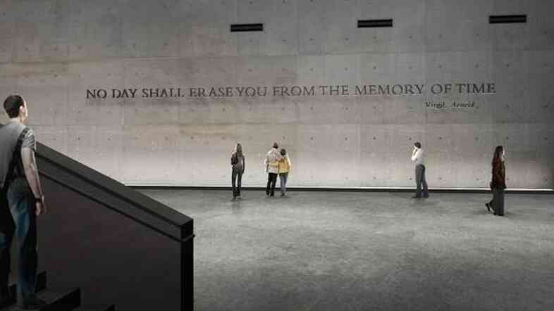 An artist's image of the wall that will separate the public from the repository where unidentified remains will be kept at the National September 11 Memorial Museum in Manhattan.