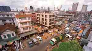 A view of Jankara Market in Lagos, Nigeria.