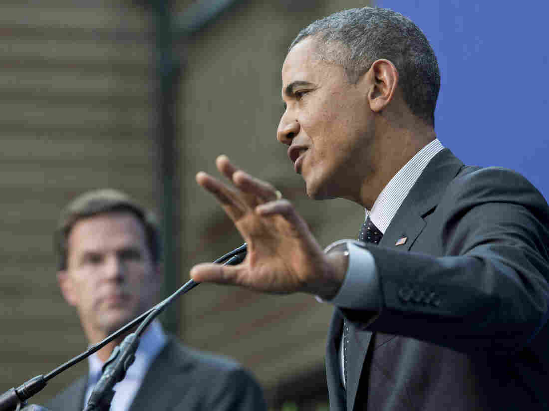 President Obama, accompanied by Dutch Prime Minister Mark Rutte, speaks during their joint news conference at the conclusion of the Nuclear Security Summit in The Hague on Tuesday.
