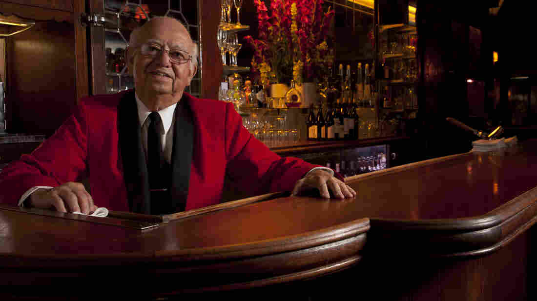"Manuel ""Manny"" Aguirre, 80, has been mixing cocktails at Musso and Frank Gr"
