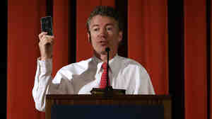 Kentucky Sen. Rand Paul could catch a political updraft from President Obama's decision to restrict NSA telephone data collection efforts.