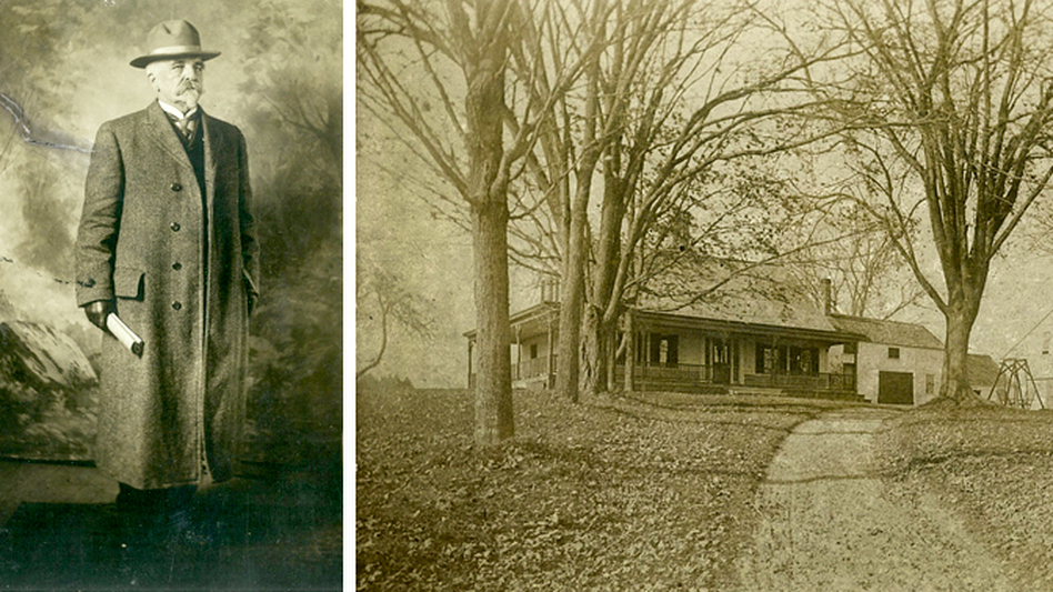 Horace Wilson and Wilson Farm, his childhood home in Maine. (Courtesy of Abigail Sanborn)