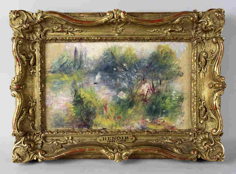 Renoir's On the Shore of the Seine returns to the Baltimore Museum of Art more than 60 years after its theft. Rumor has it Renoir painted the tiny piece on a linen napkin for his mistress. It was stolen from the museum in 1951 and resurfaced in 2012 when a woman tried to sell it, claiming she had bought it at a flea market.