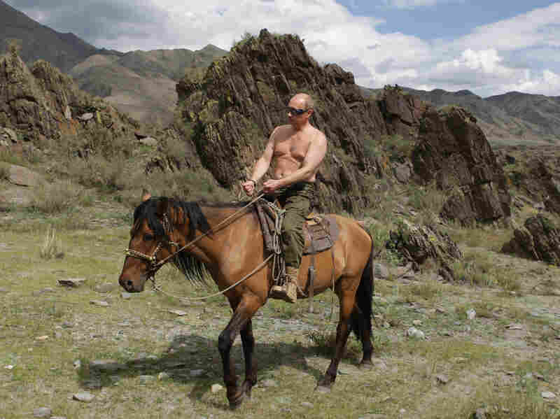 Putin rides a horse in the mountains of Siberia in 2009. The annexation of Crimea has made him popular at home, but Russia is facing economic problems that could be exacerbated by the Crimea crisis.