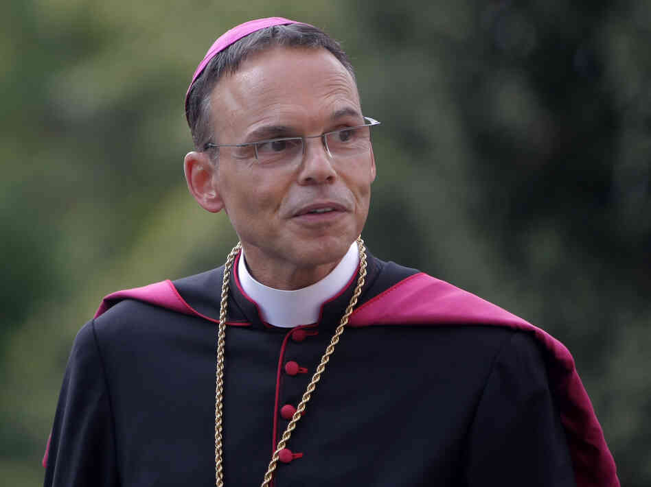 Then-Bishop Franz-Peter Tebartz-van Elst last August. The Vatican has accepted his resignation. Tebartz-van Elst spent lavishly on renovations at his residence