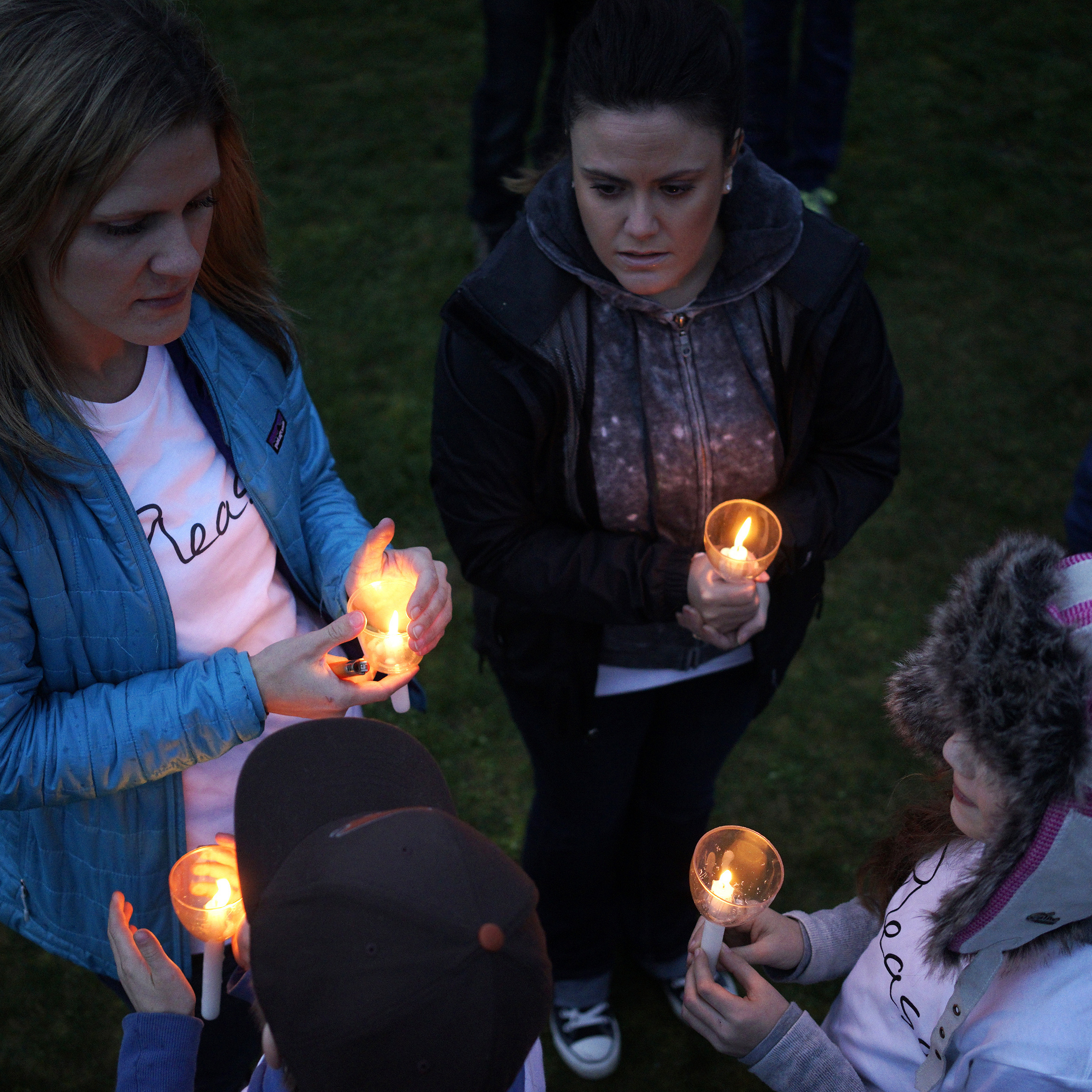 There was a candlelight vigil Tuesday near the site of the mudslide that tore through the tiny community of Oso, Wash.