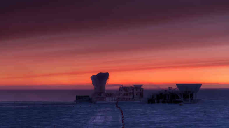 The National Science Foundation's South Pole Station, home to the BICEP2 telescope.