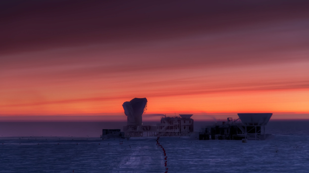 The National Science Foundation's South Pole Station, home to the BICEP2 telescope. (Harvard University)