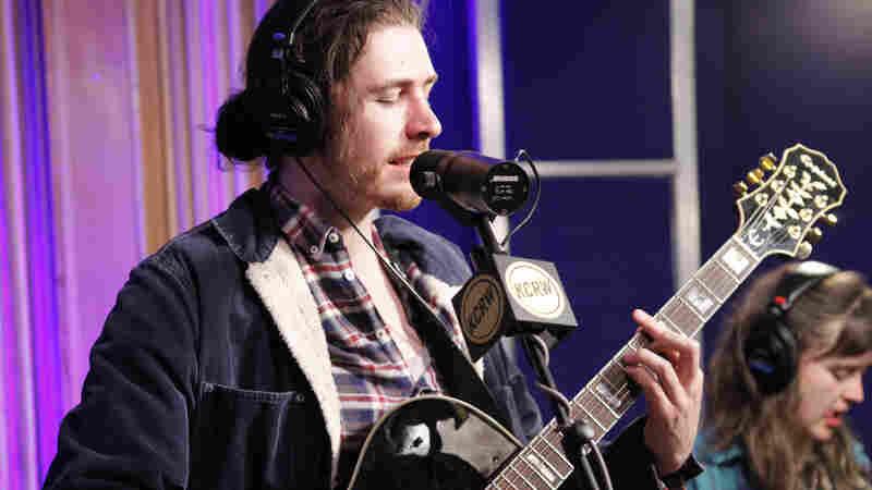 Hozier performing live in KCRW studios.