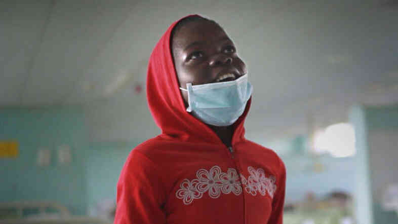 Nokubheka, 12, had to move away from her family and into a hospital for treatment against drug-