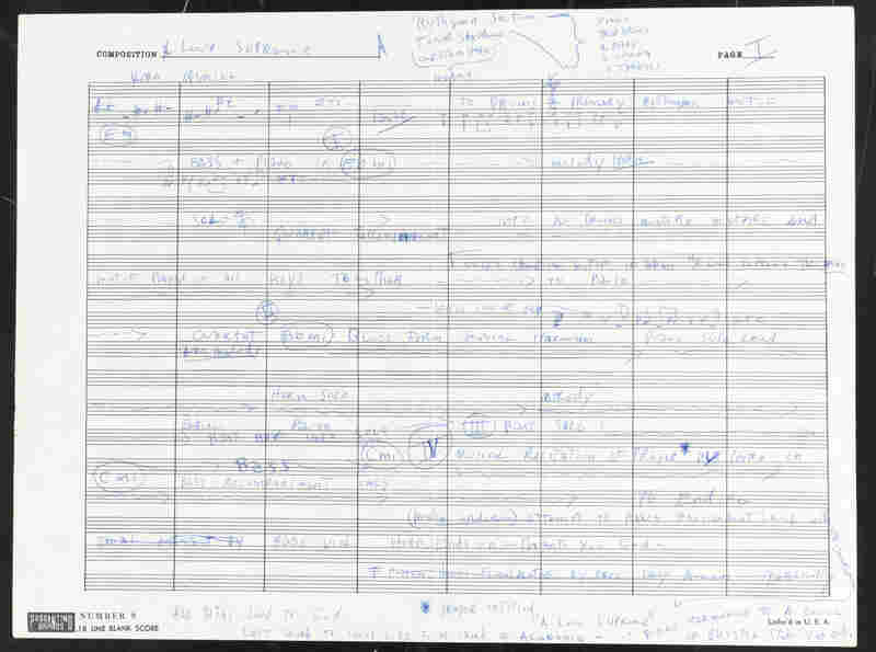 John Coltrane's handwritten outline of A Love Supreme.