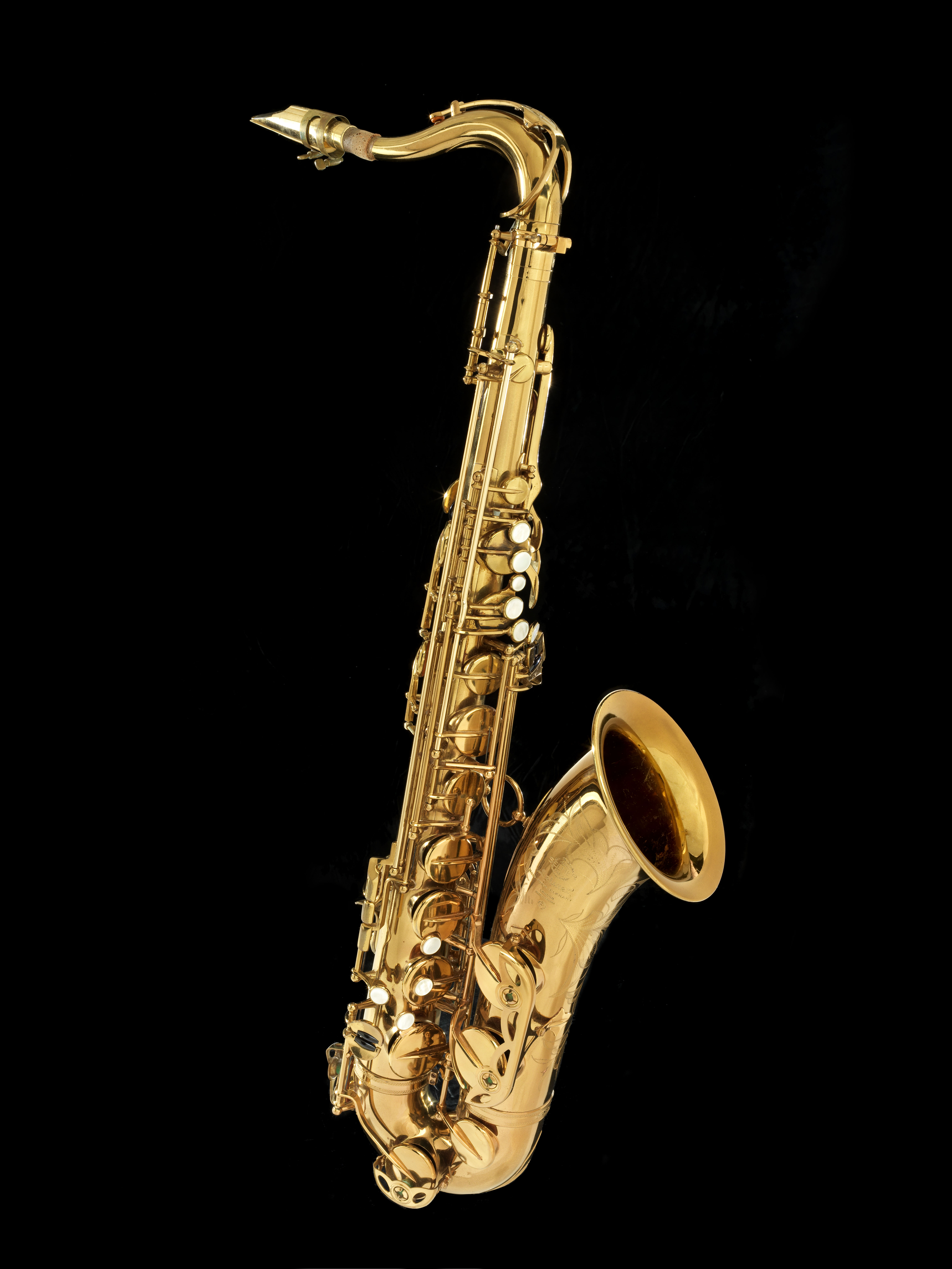 The John Coltrane Estate recently donated this Selmer Mark VI tenor saxophone, an instrument he used late in his career.