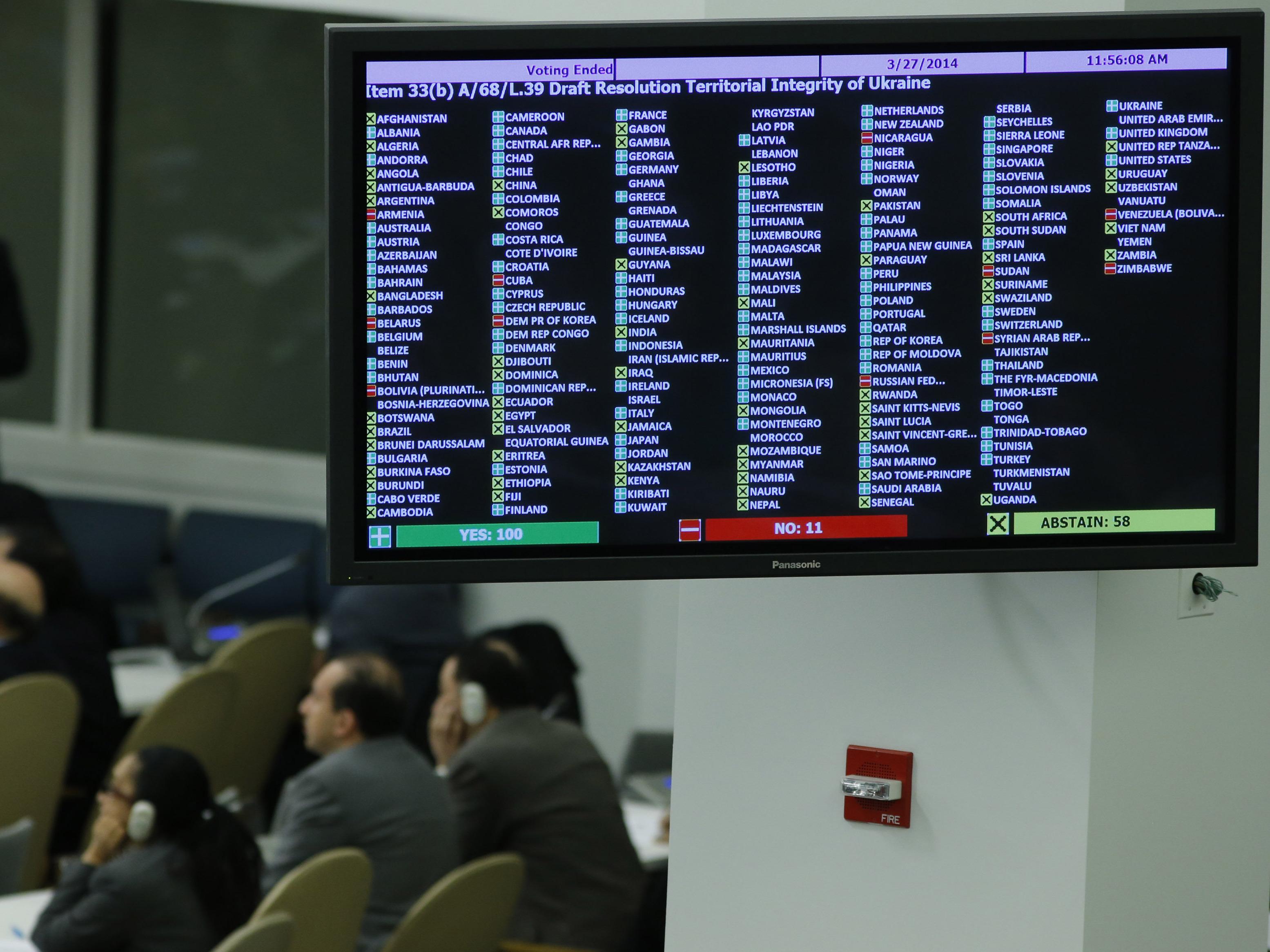 U.N. General Assembly: 'No Validity' For Crimea Referendum