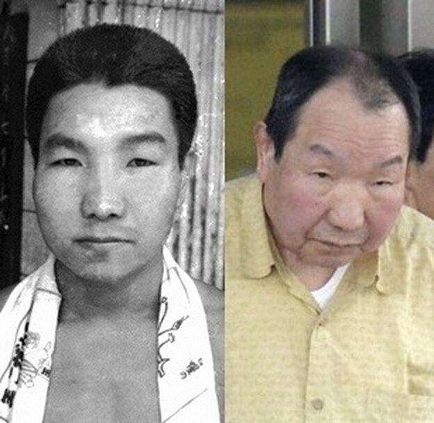 Iwao Hakamada before he went to prison in 1966 and after his release on Thursday. Now 78, he was sentenced to death in 1968 for the murders of four people and may have been the world's longest