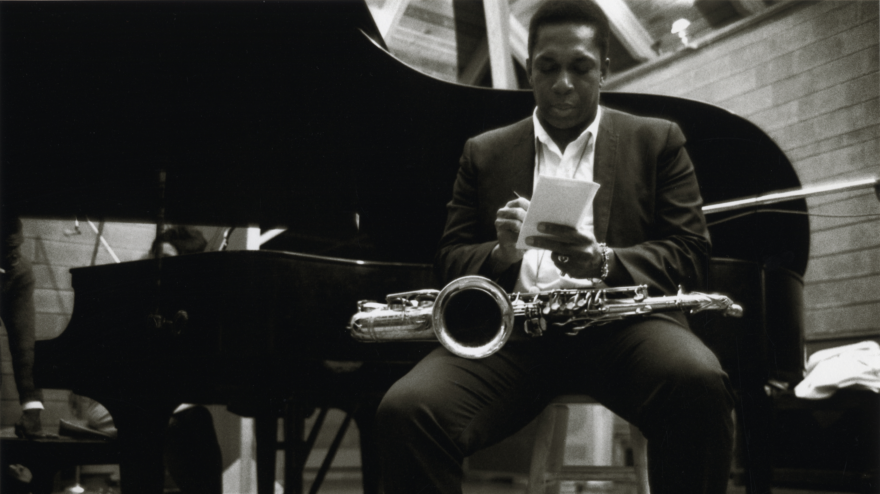 John Coltrane reflects during an April 1966 recording for the album Cosmic Music.