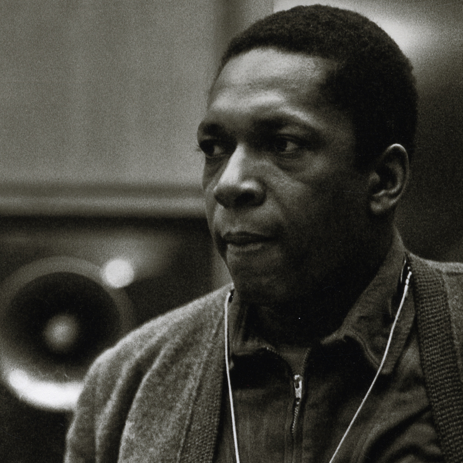 John Coltrane during the recording of A Love Supreme in December 1964.
