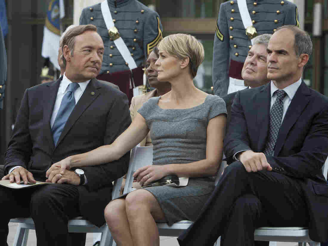 Kevin Spacey (left) and Robin Wright star in House of Cards.