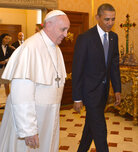 Pope Francis and President Obama at the Vatican on Thursday. It was their first meeting.