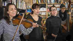 The Haden Triplets perform a Tiny Desk Concert in February 2014.