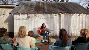 Kristian Bell of The Wytches performs for a Field Recordings video shoot in Austin, Texas.