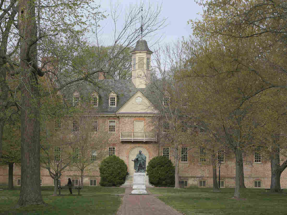 The Wren Building on the campus of William & Mary in Williamsburg, Va.