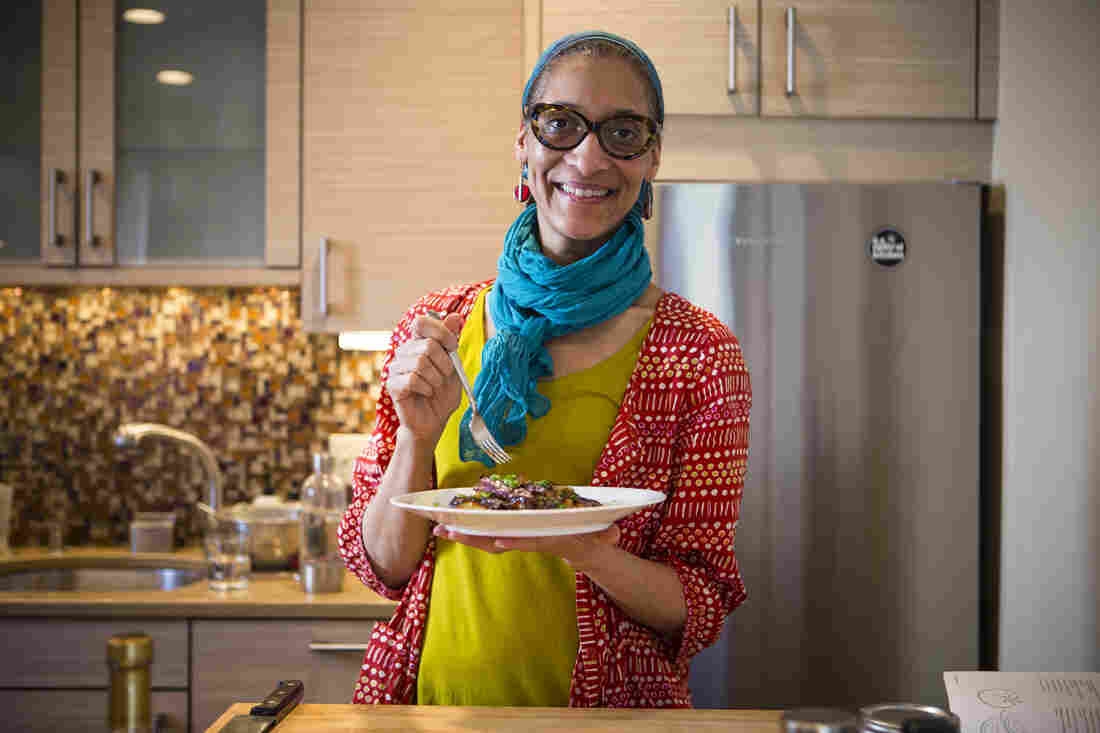 "Carla Hall says her new cookbook is all about celebrating home-cooked meals as a way of bringing people together. ""We're all connected through food, and the dishes in this book show that we're more alike than different,"" she writes. ""Sure, I grew up with grits, but it's served as polenta in Italy."""