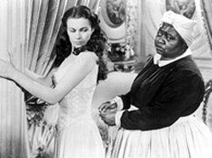 Hattie McDaniel played Mammy alongside Vivien Leigh's Scarlett in Gone with the Wind.