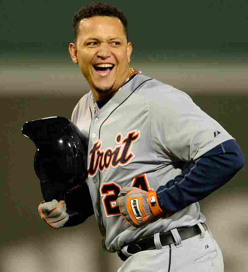 He's got 290 million reasons to smile: The Detroit Tigers' Miguel Cabrera.