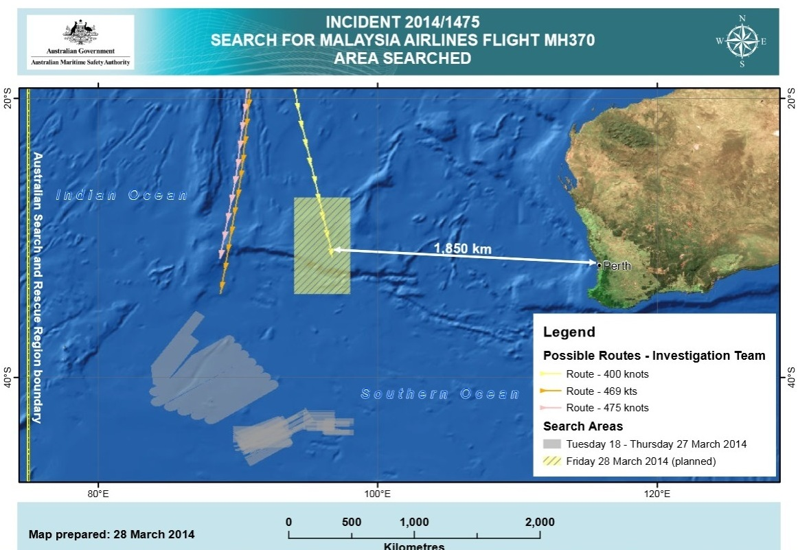 New Lead Shifts Search For Missing Jet 700 Miles North