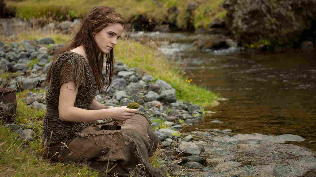 Ila (Emma Watson) and her husband, Shem, are two passengers aboard the ark built by Noah to escape God's flood in Noah, Darren Aronofsky's imagining of the biblical tale.