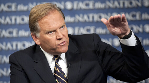 Rep. Mike Rogers, R-Mich., during an appearance last year on CBS News' Face the Nation. The chairman of the House Intelligence Committee says he won't seek re-election in November.