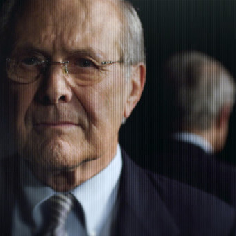 Errol Morris spent over 30 hours over the course of a year interviewing former Secretary of Defense Donald Rumsfeld for his film.