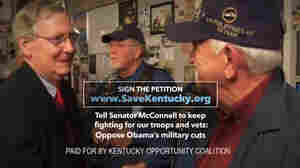 The Kentucky Opportunity Coalition used footage from Mitch McConnell's campaign for its own ads.