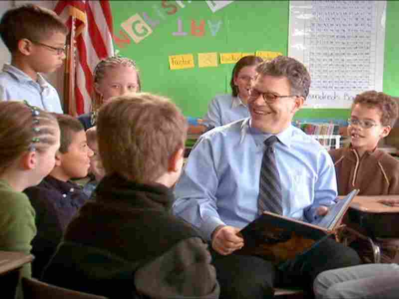 """Al Franken's campaign website allows users to download b-roll of the candidate, including a file called """"Franken reading to children."""""""